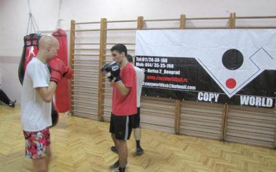 Trening u Zemunskoj gimnaziji 10