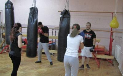 Trening u Zemunskoj gimnaziji 11